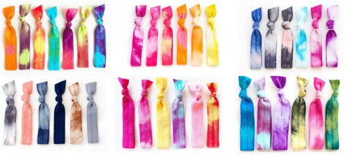 mane message tie dye hair ties