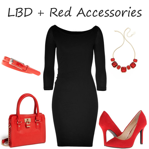 LBD red accessories