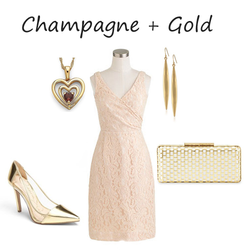 champagne and gold