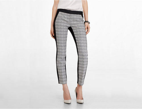 Optic Tweed Front Columnist Ankle Pant, $69 at Express