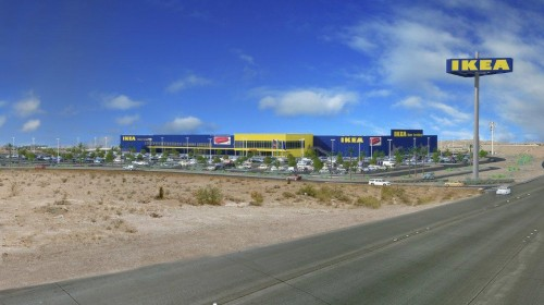 Architectural Rendering of Proposed IKEA Las Vegas (opening Summer 2016)