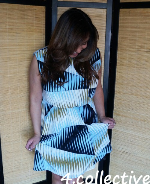 4 collective print dress outfit