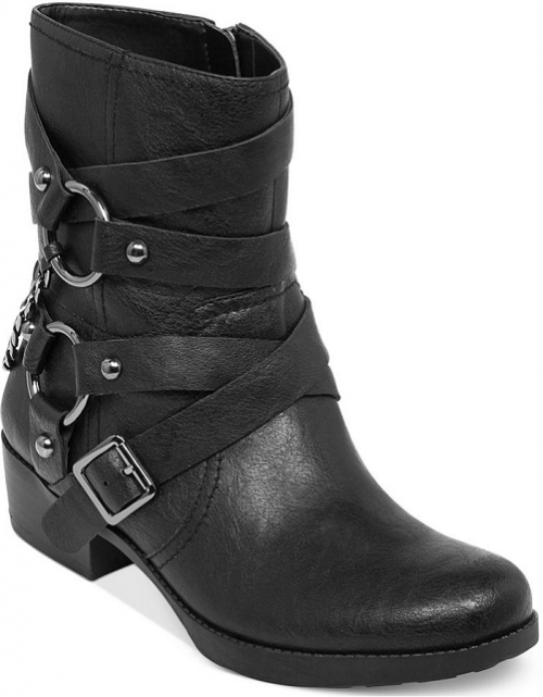 Jessica Simpson Goldi Moto Buckle Booties, $80.
