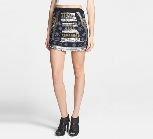 Raga Beaded Miniskirt, $88 at Nordstrom