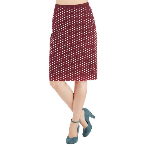 Connoisseur of the Moment Skirt in Zinfandel, $40