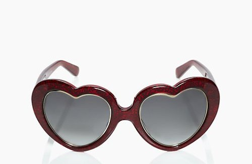 kate spade heart shaped sunglasses
