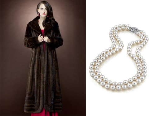pearls and furs formal look