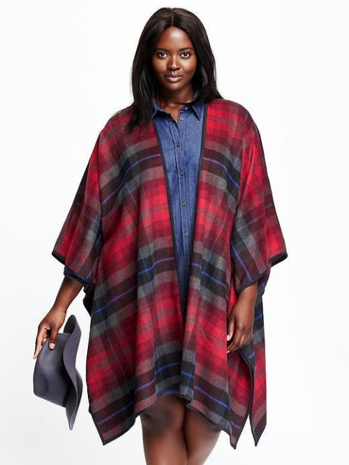 Plaid Plus Size Poncho from Old Navy, on sale for $30
