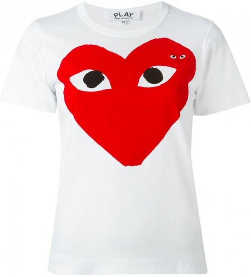 Comme des Garcons Play Heart T-shirt, $91.