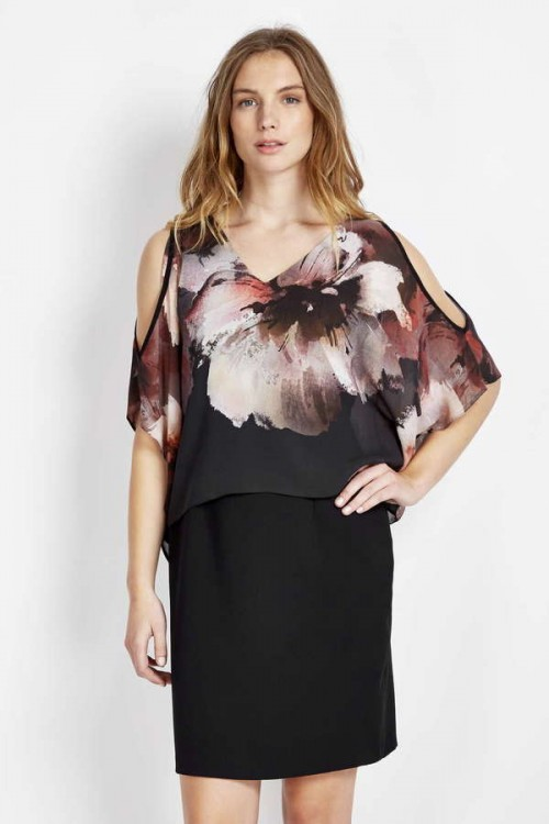 Floral Cold Shoulder Dress, $84