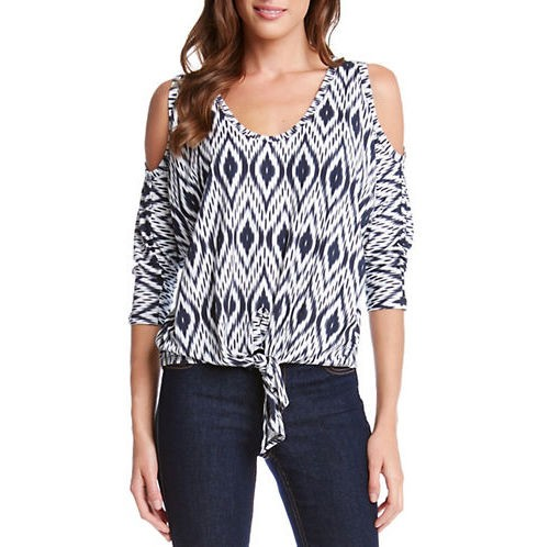 Karen Kane Cold Shoulder Patterned Top, $98