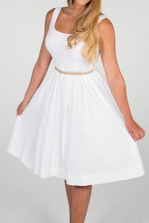 Donna Morgan Eyelet Dress, $98