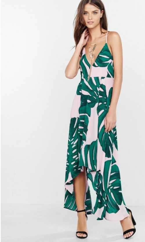 Express Palm Leaf Dress, $88