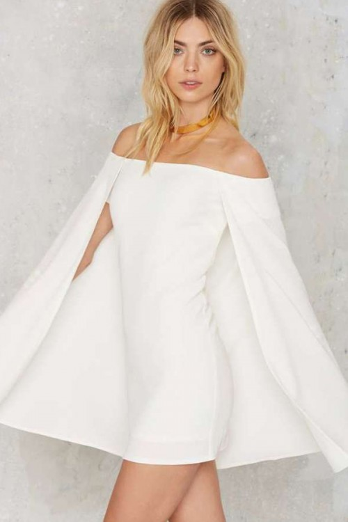 White Cape Dress, $68