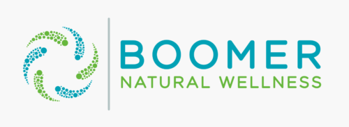 Graphic image of the Boomer Natural Wellness logo, a brand and hemp infused wellness product retail store in Las Vegas.
