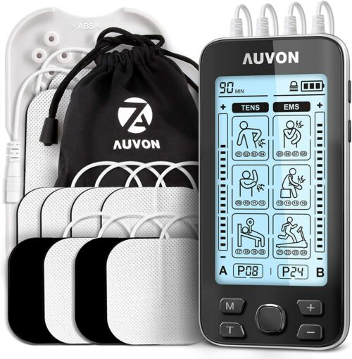 This is a product image of the AUVON TENS & EMS device, as seen on Amazon.